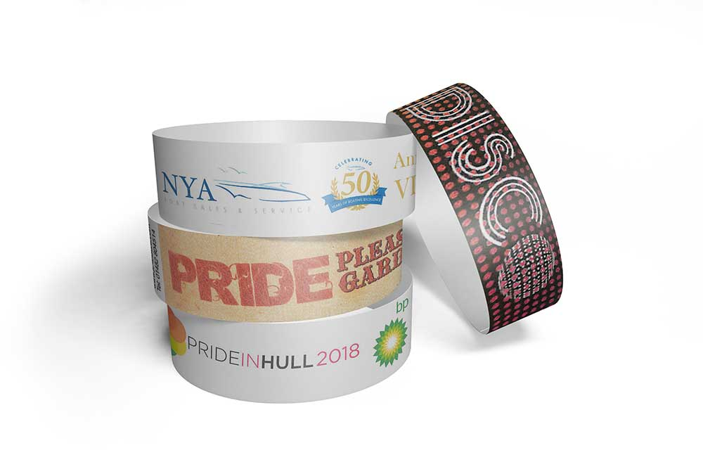 image about Printable Tyvek Wristbands referred to as Finish Coloration Posted Tyvek Wristbands